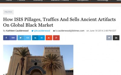 International Business Times: ISIS and the Antiquities Trade