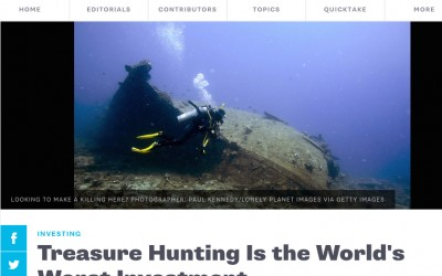 Article in BloombergView: Treasure Hunting is the World's Worst Investment