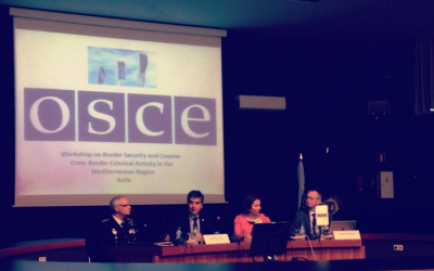 Invited Lecture on Antiquities Trafficking at the OSCE Border Security Workshop for the Mediterranean Region