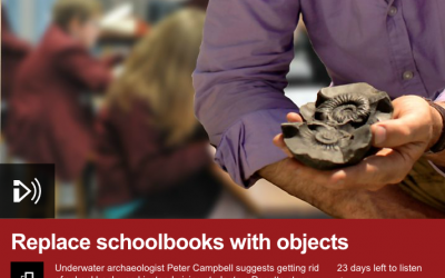 60 Second Idea to Improve the World: Replace schoolbooks with objects