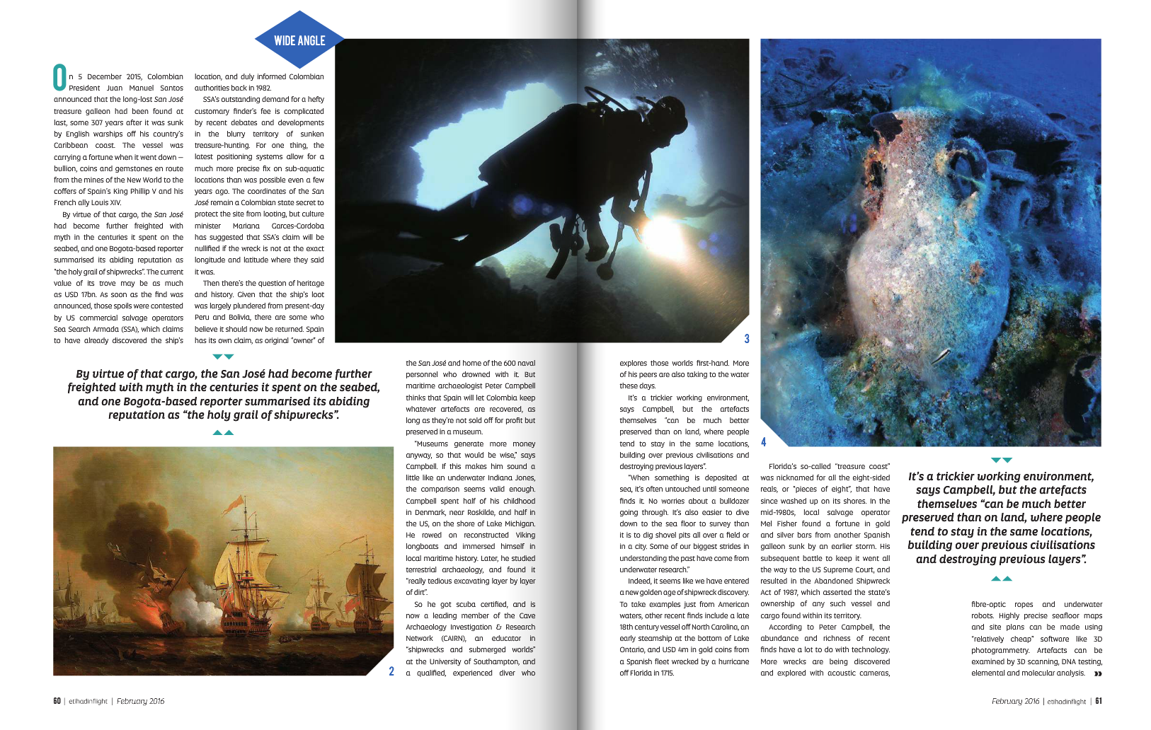 Treasure of the Deep Etihad magazine article