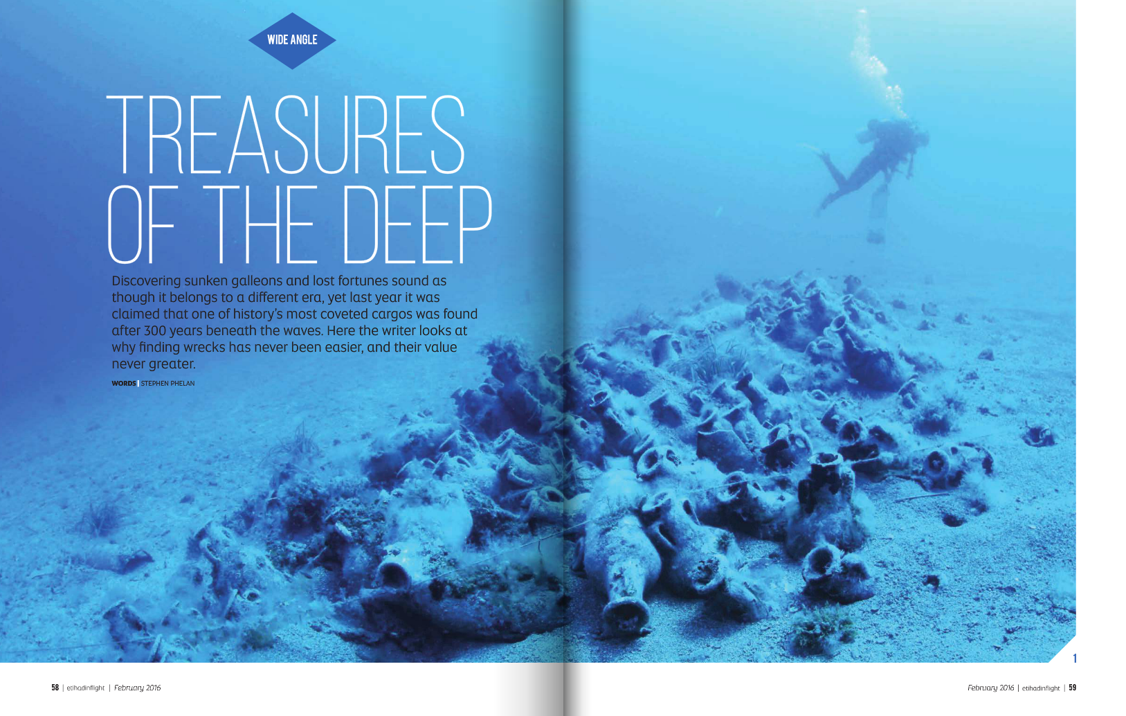 Treasures of the Deep Etihad magazine spread