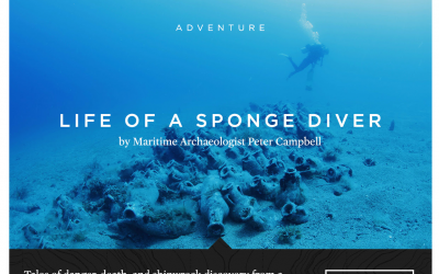 Article Published with Huckberry's Journal on Life as a Sponge Diver